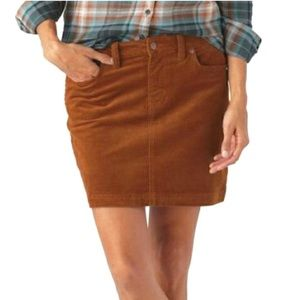 PATAGONIA • Rust Color Corduroy Skirt - Size 10